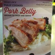 User Added Trader Joe S Fully Cooked Pork Belly Calories Nutrition Analysis More Fooducate