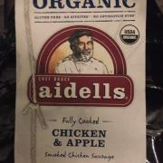User added: aidells, Organic chicken and apple sausage. nutrition ...