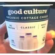 good culture organic cottage cheese calories nutrition analysis rh fooducate com cottage cheese orange salad cottage cheese orange jello cool whip salad