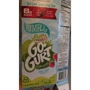 Yoplait Go Gurt Lowfat Yogurt, Strawberry. nutrition grade B plus. 50 Calories