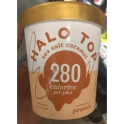 Halo Top Sea Salt Caramel Light Ice Cream