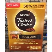 Nescafe Taster's Choice Hazelnut, Instant Coffee Beverage. nutrition grade C