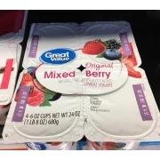 Great Value Lowfat Yogurt, Original, Mixed Berry. nutrition grade B minus