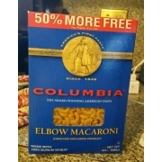 Columbia Elbow Macaroni: Calories