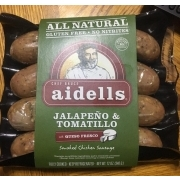 Aidells Smoked Chicken Sausage, Jalapeno And Tomatillo. nutrition grade C