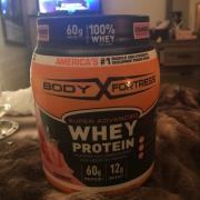 User added: body fortress super advanced whey protein strawberry. nutrition ...