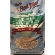Bob S Red Mill Oats Steel Cut Organic Quick Cooking Calories Nutrition Analysis More Fooducate