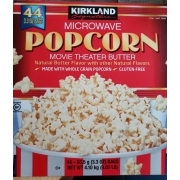 Kirkland Signature Popcorn Movie Theater Butter Calories Nutrition Analysis More Fooducate