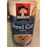 Quaker Steel Cut Oats: Calories