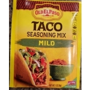 Old El Paso Taco Seasoning Mix Mild Calories Nutrition Analysis More Fooducate