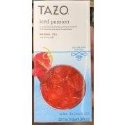 Tazo Iced Passion, Herbal Tea: Calories