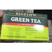 Bigelow Green Tea with Mango: Calories