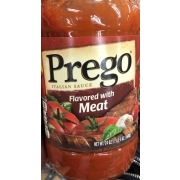Prego Italian Sauce, Flavored with Meat