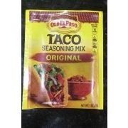 Old El Paso Seasoning Mix Taco Original Calories Nutrition Analysis More Fooducate