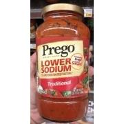 Prego Italian Sauce, Traditional, Lower