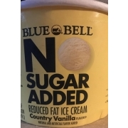 Blue Bell No Sugar Added Reduced Fat