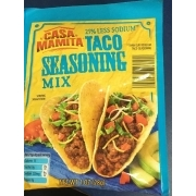 Casa Mamita Taco Seasoning Mix 25 Less Sodium Calories Nutrition Analysis More Fooducate