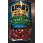 Bush S Best Kidney Beans Dark Red Reduced Sodium Calories Nutrition Analysis More Fooducate