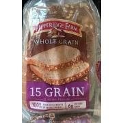 Pepperidge Farm Bread Whole Grain 15 Grain Calories Nutrition Analysis More Fooducate