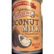 Trader Joe's Coconut Milk, Reduced Fat, Organic: Calories, Nutrition Analysis & More | Fooducate