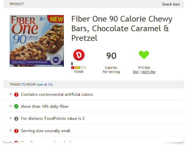 Fiber One 90 Calorie Chewy Bars Chocolate Caramel Pretzel