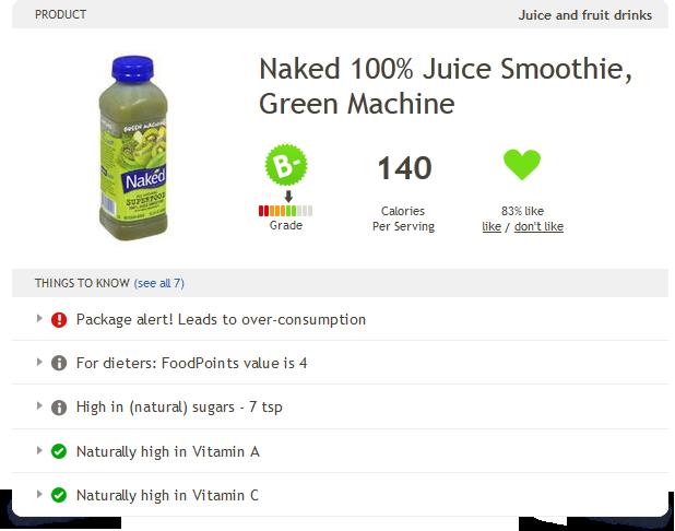 Naked 100% Juice Smoothie Green Machine